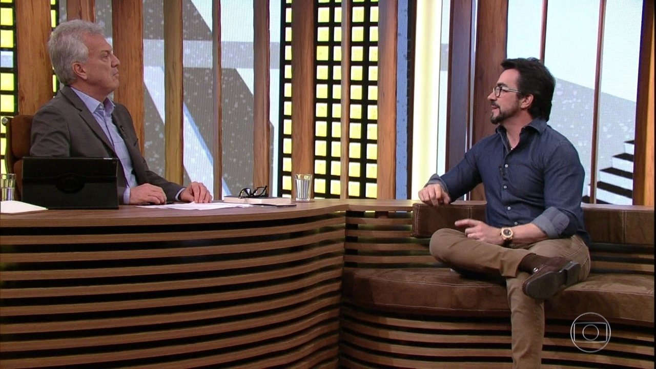 Pedro Bial questiona Padre Fábio de Melo sobre competição entre Igrejas
