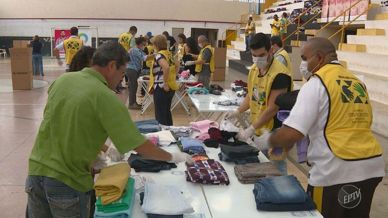Em mutirão, Campinas contabiliza mais de 2 toneladas de roupas arrecadadas para inverno