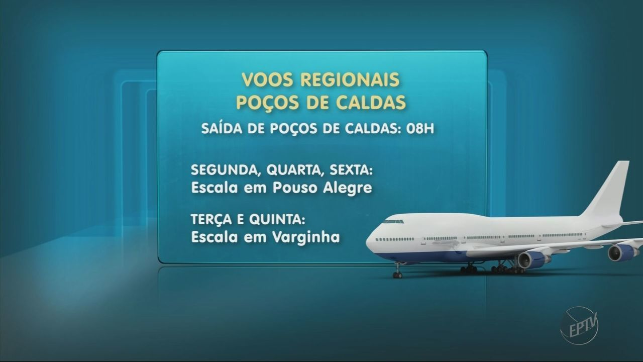 Aeroporto de Poços de Caldas (MG) volta a ter voos para Belo Horizonte (MG)