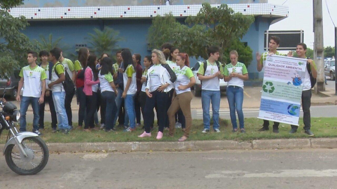 Dia do Meio Ambiente é marcado por ação de estudantes em Ji-Paraná