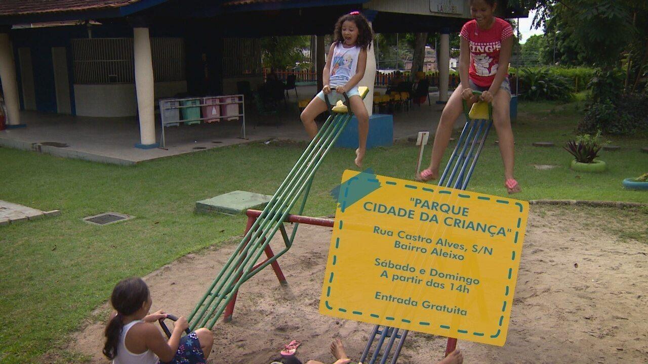 Parque Cidade da Criança em Manaus é opção de lazer para o fim de semana em Manaus