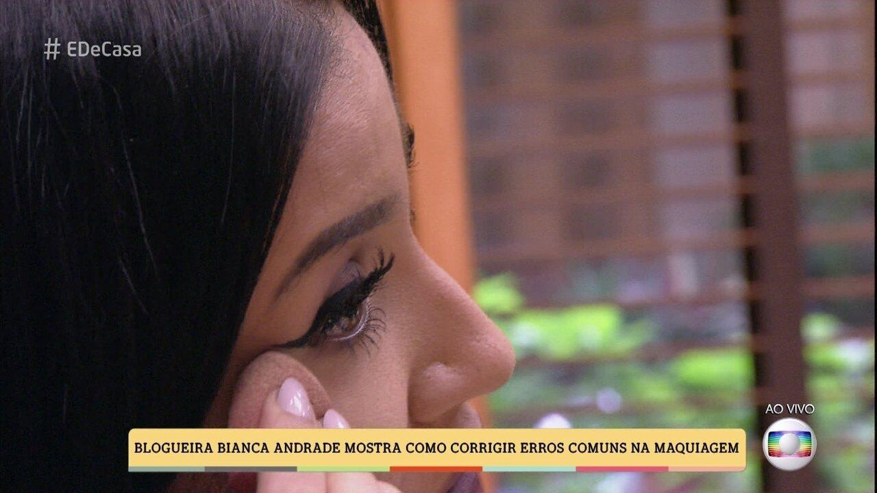 Bianca Andrade mostra como corrigir erros comuns na maquiagem