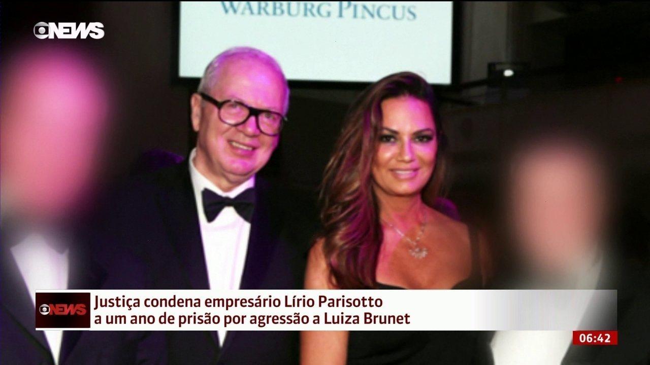 Justiça condena empresário a um ano de prisão por agressão a Luiza Brunet