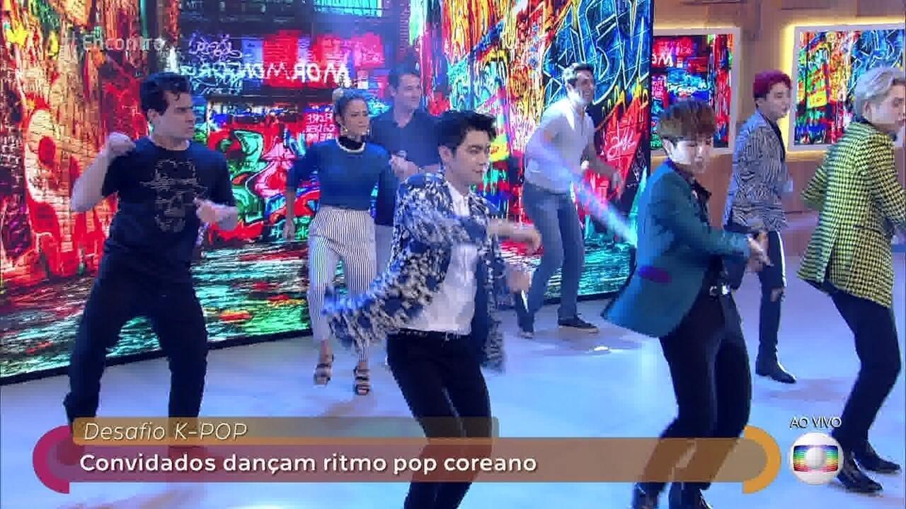 Convidados dançam ritmo K-pop