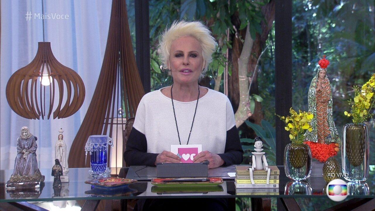 Ana Maria confessa ansiedade para entrevista com Pedro Bial