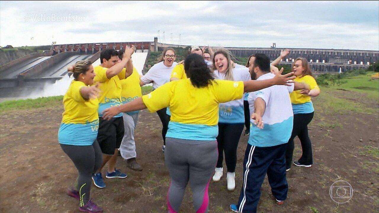 Participantes do Bem Verão aceitam o desafio de dançar Despacito em Foz do Iguaçu