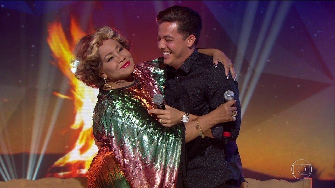Arraiá do Fantástico: Alcione e Wesley Safadão cantam 'Só Quero um Xodó'
