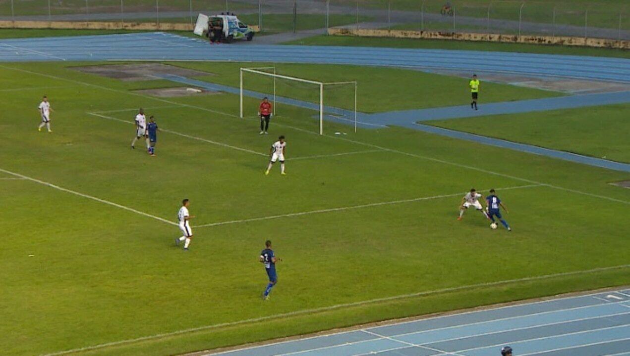 Altos sofre gol no início, mas busca empate com o Santos-AP em Macapá
