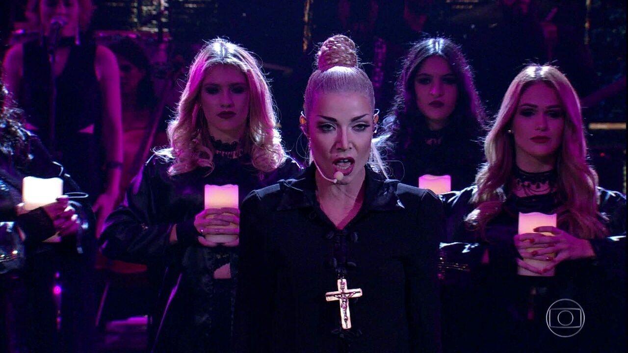 Luiza Possi se apresenta como Madonna, cantando: 'Like a prayer'