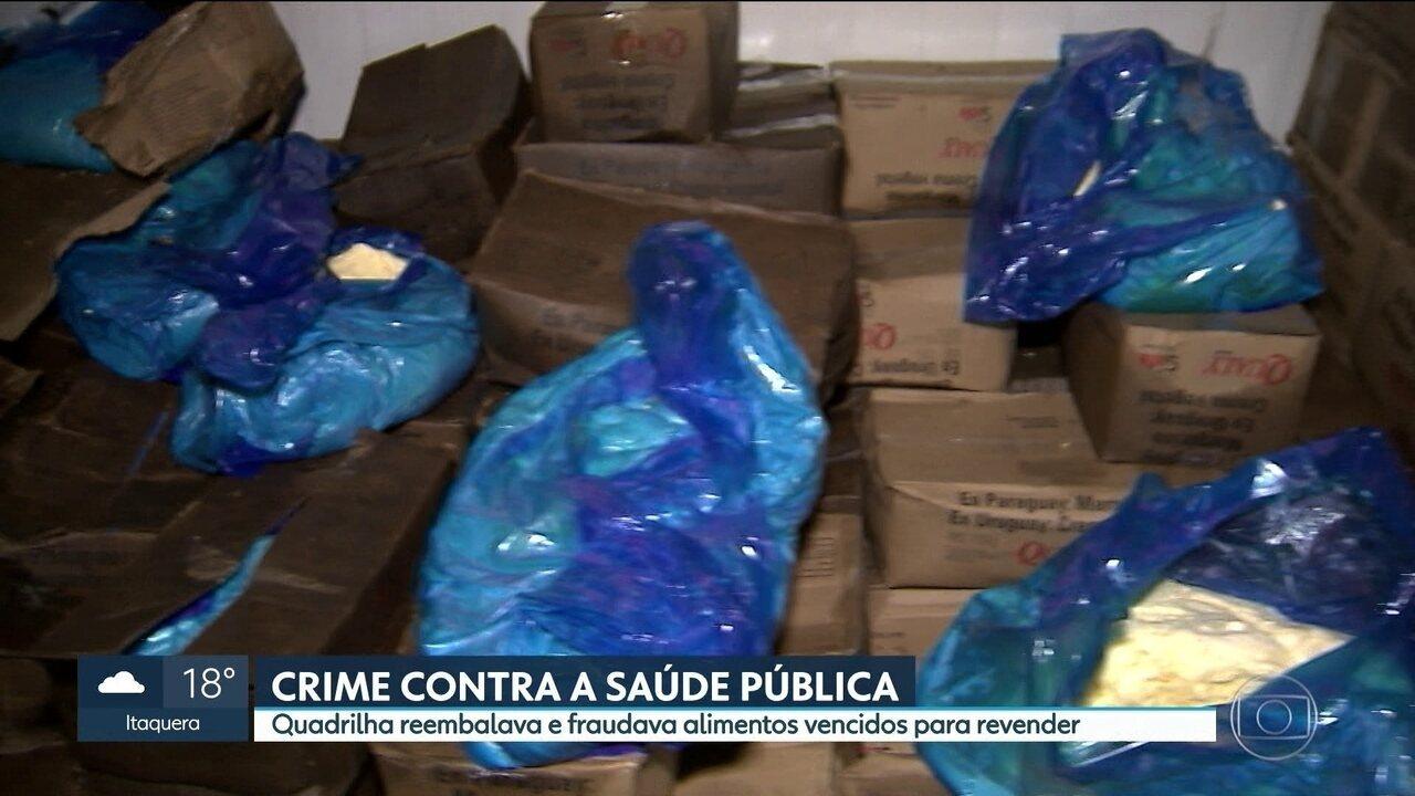 Três homens são presos em depósito na Zona Leste onde embalavam alimentos vencidos