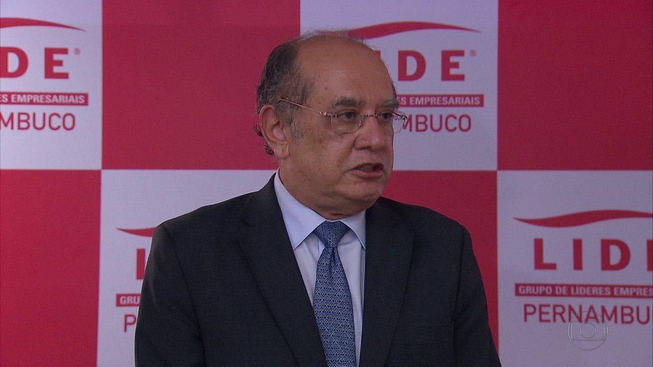 Gilmar Mendes critica juízes e promotores em seminário no Recife