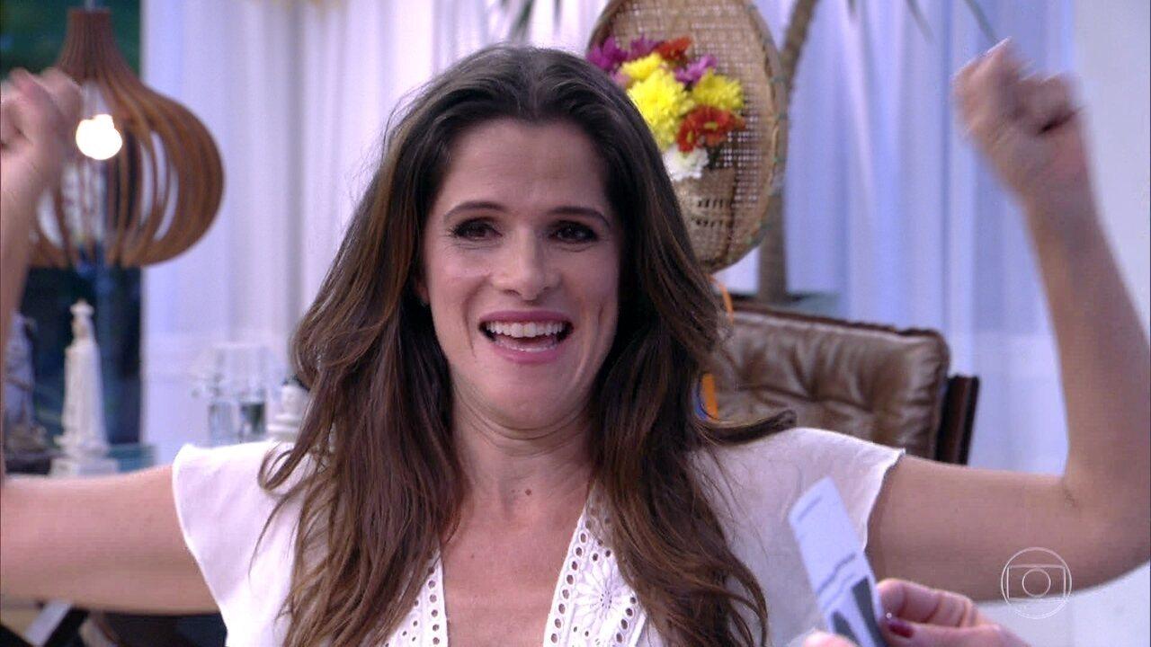Ingrid comemora retorno de Elvira em 'Novo Mundo'