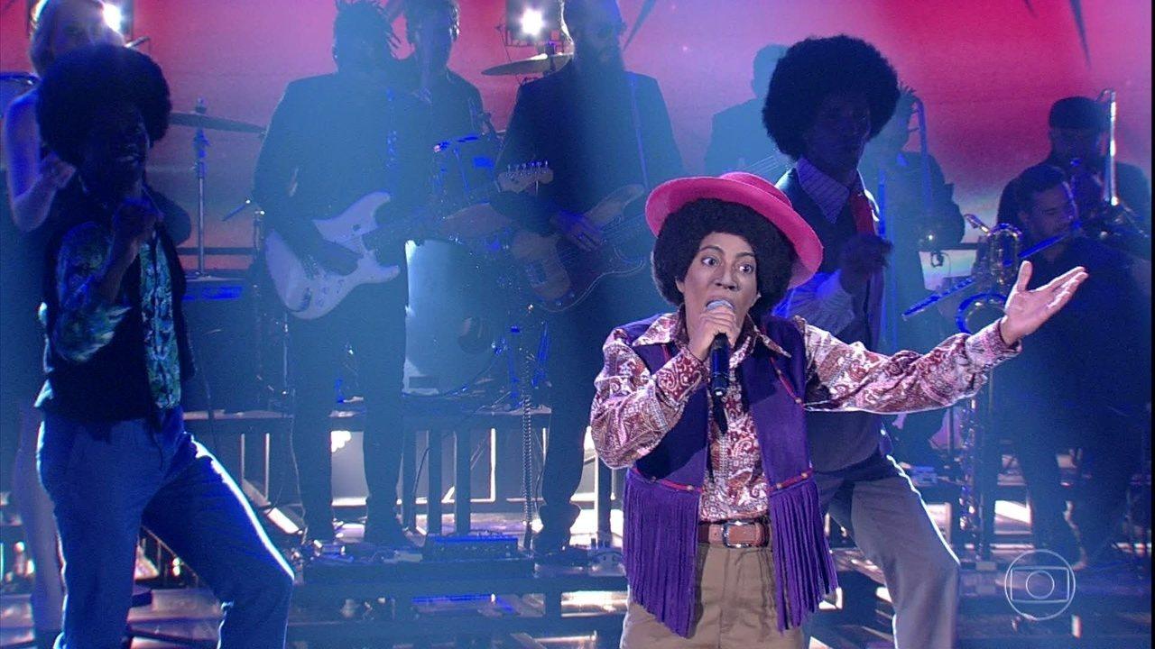 Samantha Schmütz homenageia Jackson 5 no 'Show dos Famosos'