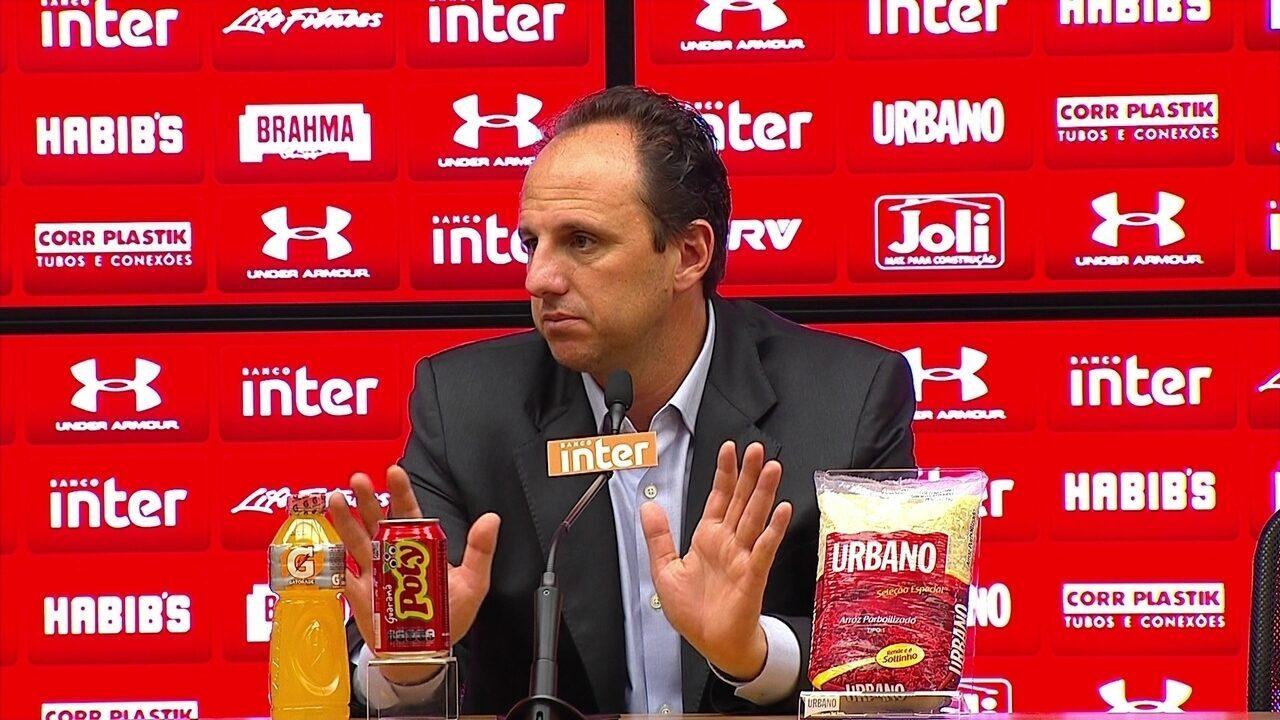 """Rogério Ceni, técnico do São Paulo: """"Eu também estou me xingando por dentro""""; veja íntegra"""