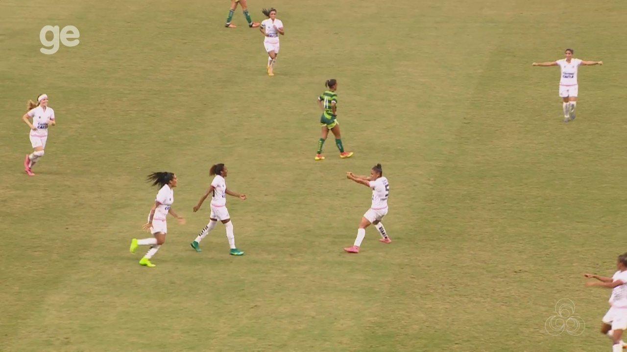 Veja os gols de Iranduba 1 x 2 Santos, pelo Brasileiro feminino