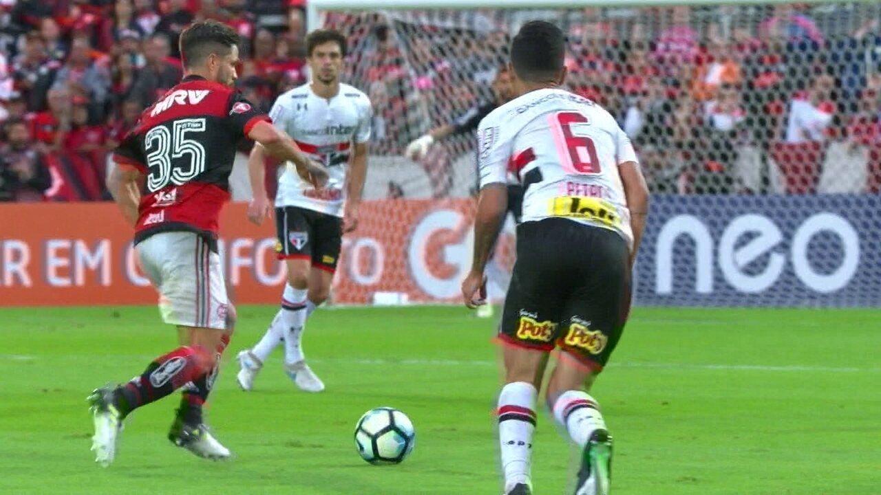Melhores momentos de Flamengo 2 x 0 São Paulo pela 11ª rodada do Campeonato Brasileiro