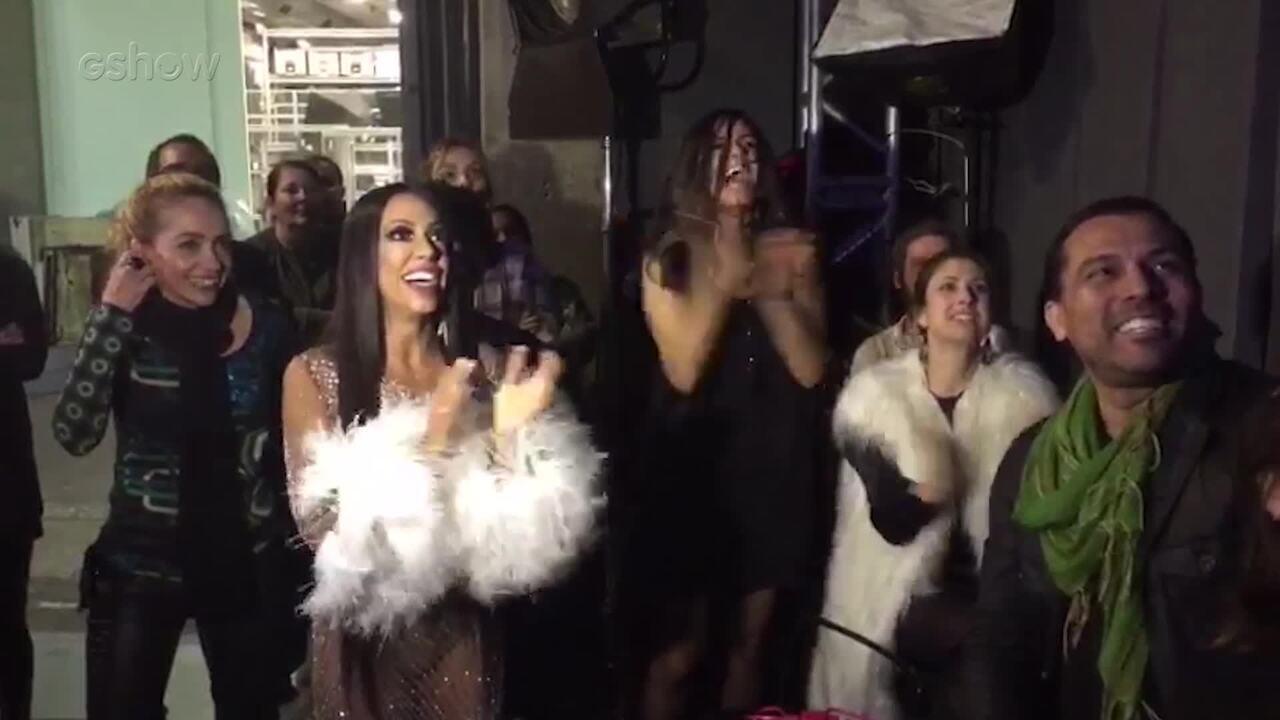 Samantha Schmütz e Emanuelle Araújo vibram com Ícaro Silva no 'Show dos Famosos'