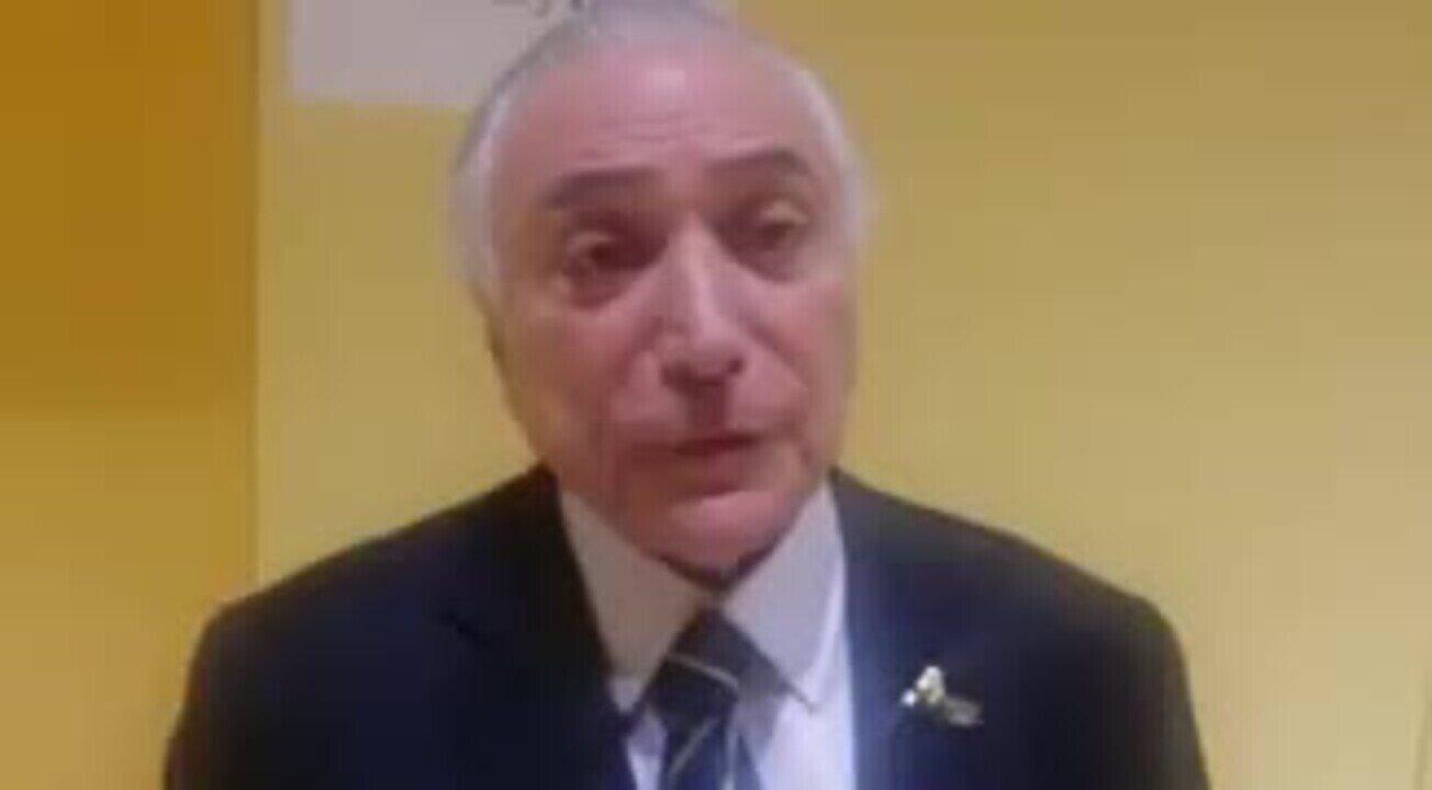 Michel Temer diz em vídeo publicado no Twitter que governo tem feito 'voltar o desemprego'