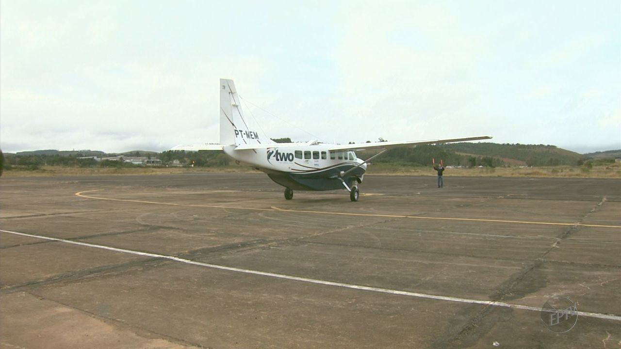 Lâmpadas quebradas impedem voos à noite no aeroporto de Poços de Caldas (MG)