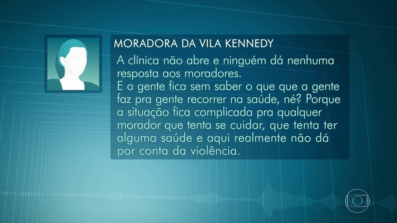 Clínica da Família na Vila Kennedy fecha as portas por causa da violência