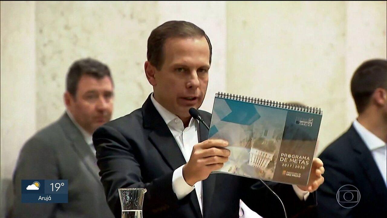 Prefeito João Doria divulga programa de metas para a administração municipal