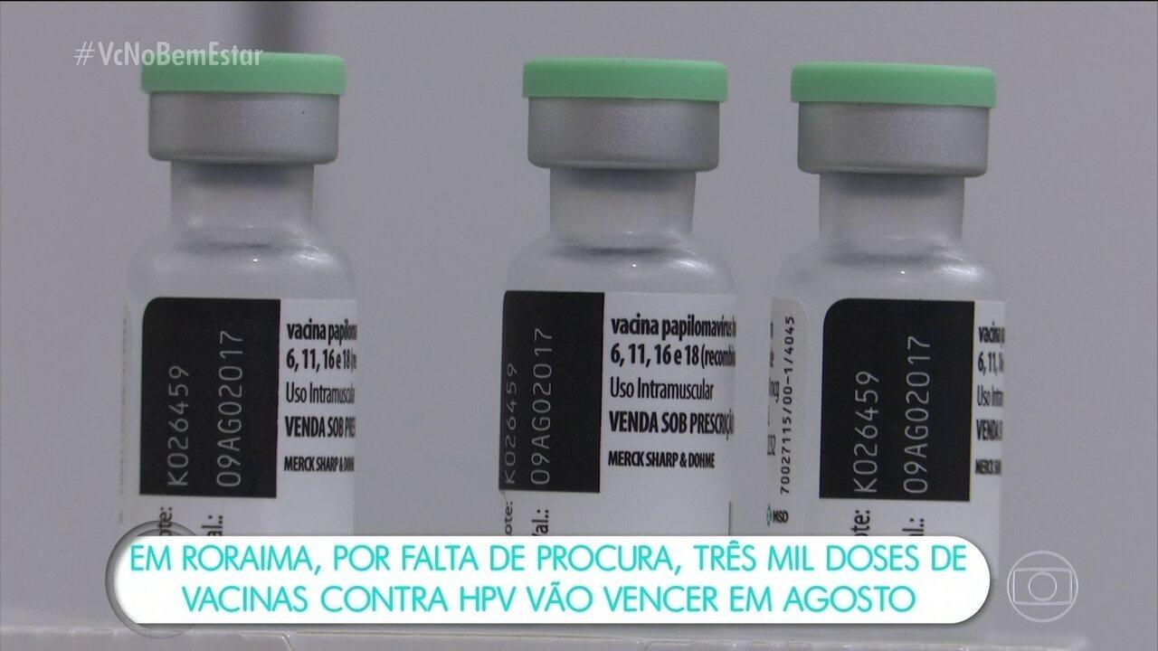 Em Roraima, mais de 3 mil doses de vacinas contra HPV vencem em agosto