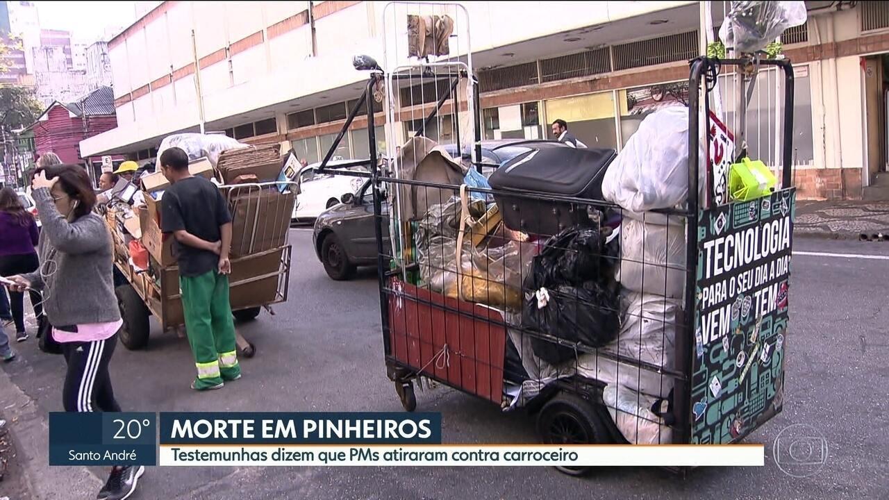 Testemunhas dizem que PMs atiraram contra catador de papel em Pinheiros