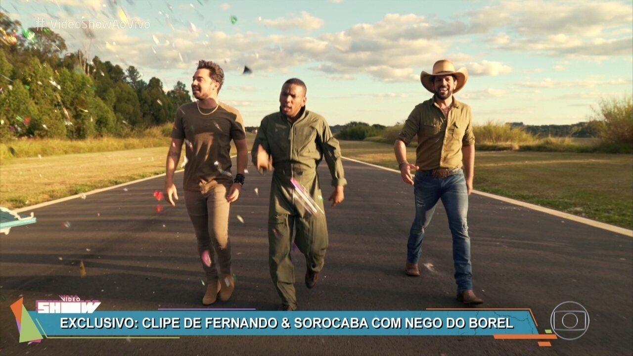 Fernando e Sorocaba lançam clipe com Nego do Borel