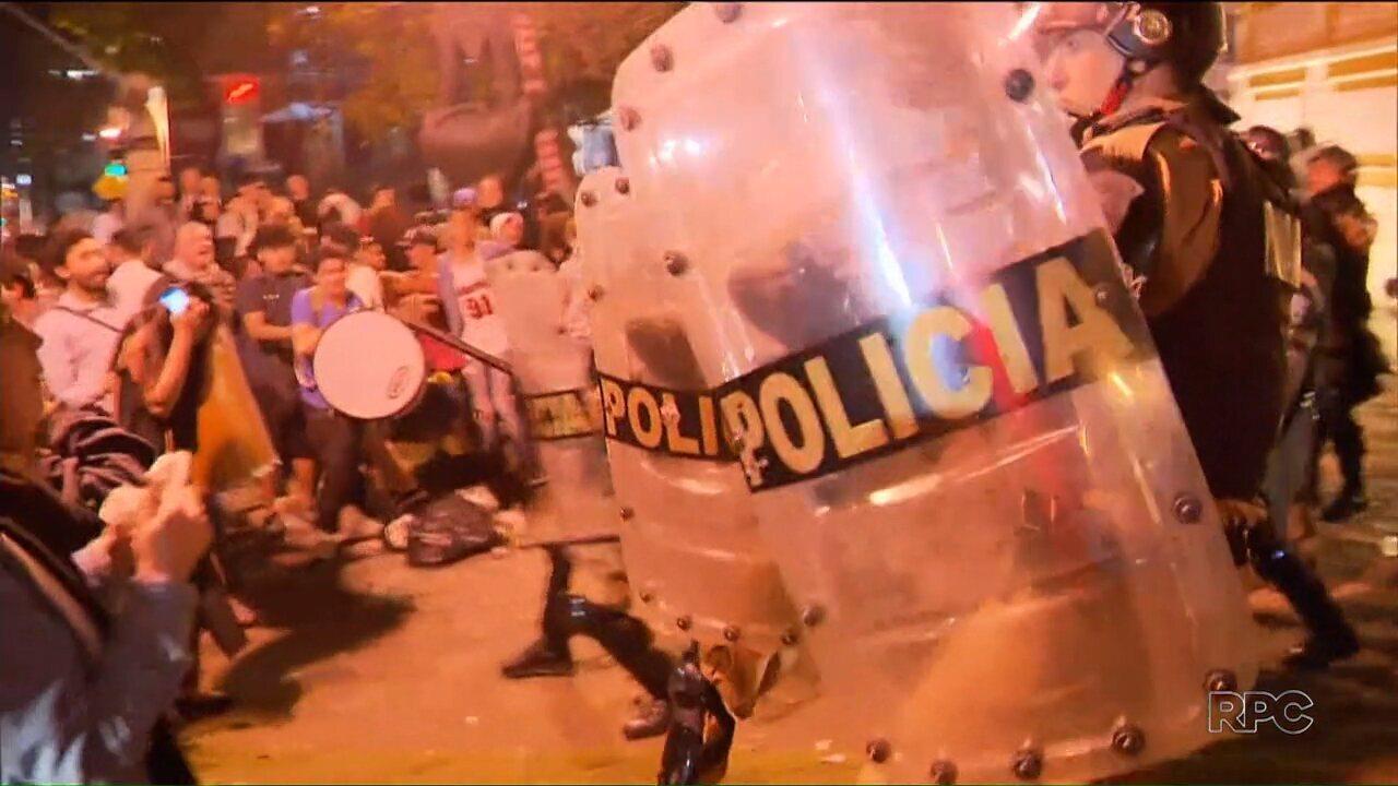 Houve tumulto em protesto durante casamento da deputada estadual do PP, Maria Victória