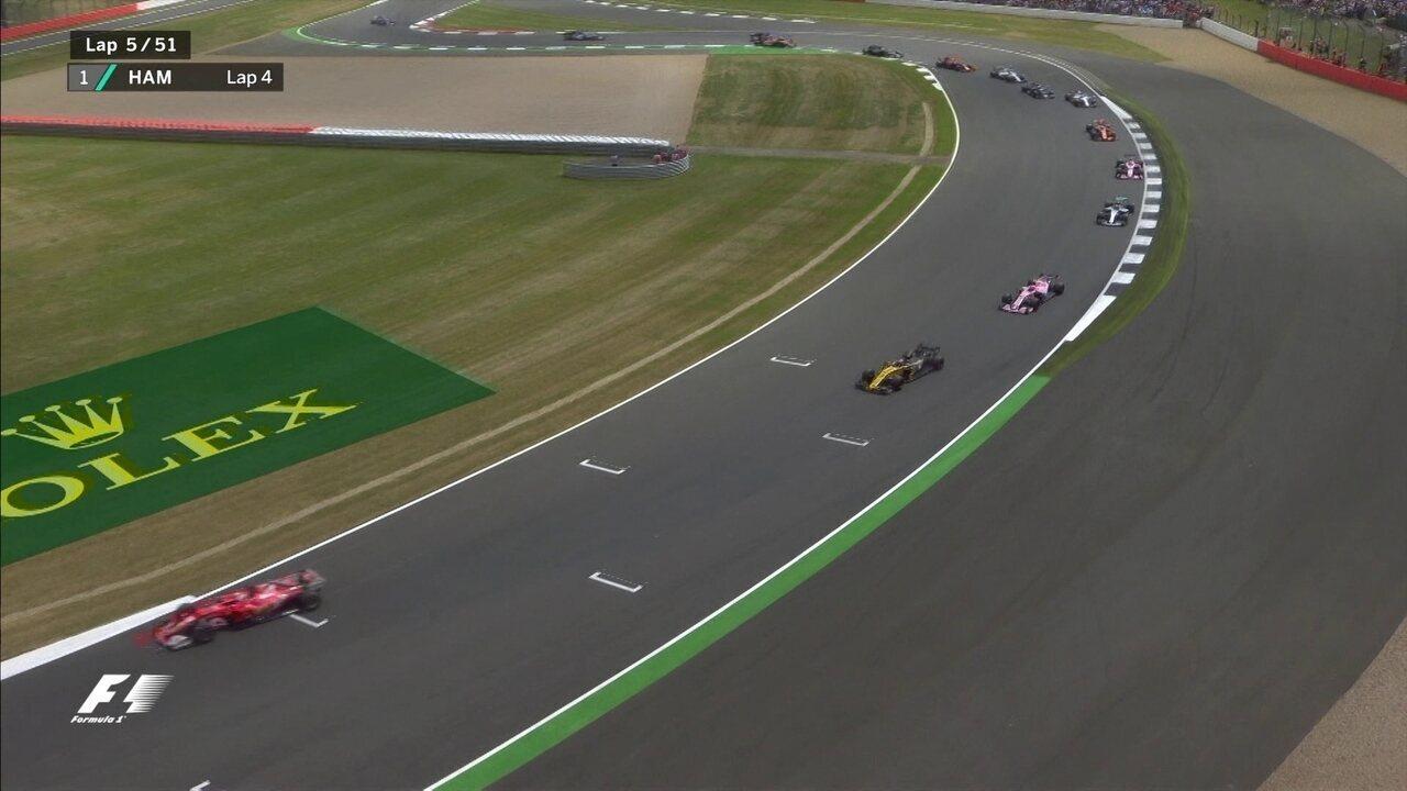 Confira a relargada do GP de Silverstone de Fórmula 1