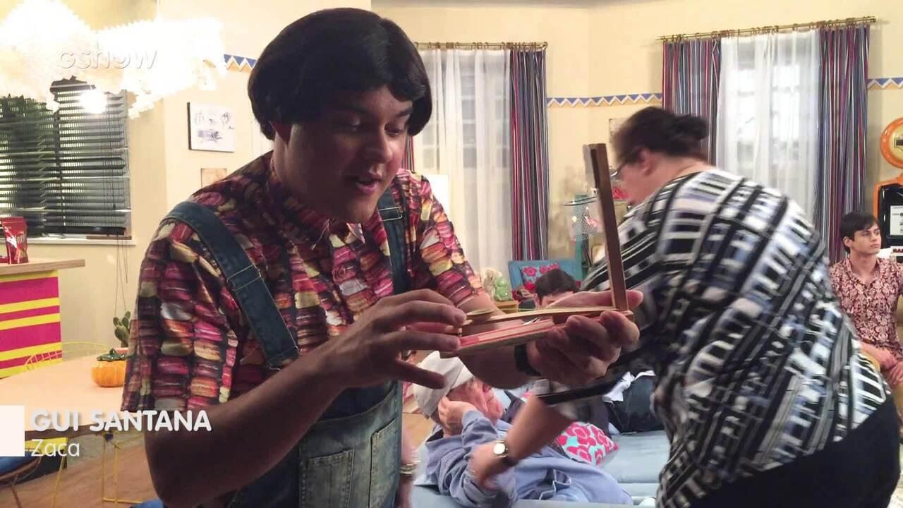 Gui Santana inventou o desafio da cestinha nos bastidores de 'Os Trapalhões'