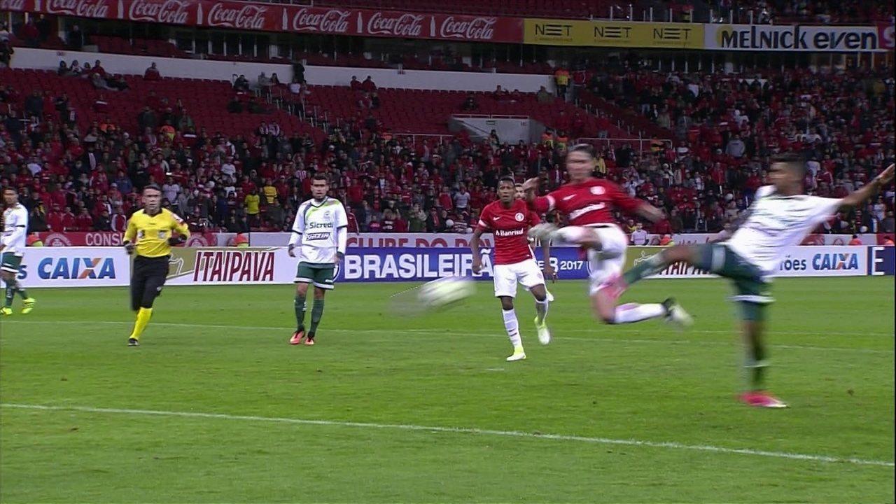 Inter martelou e perdeu chances até marcar contra o Luverdense