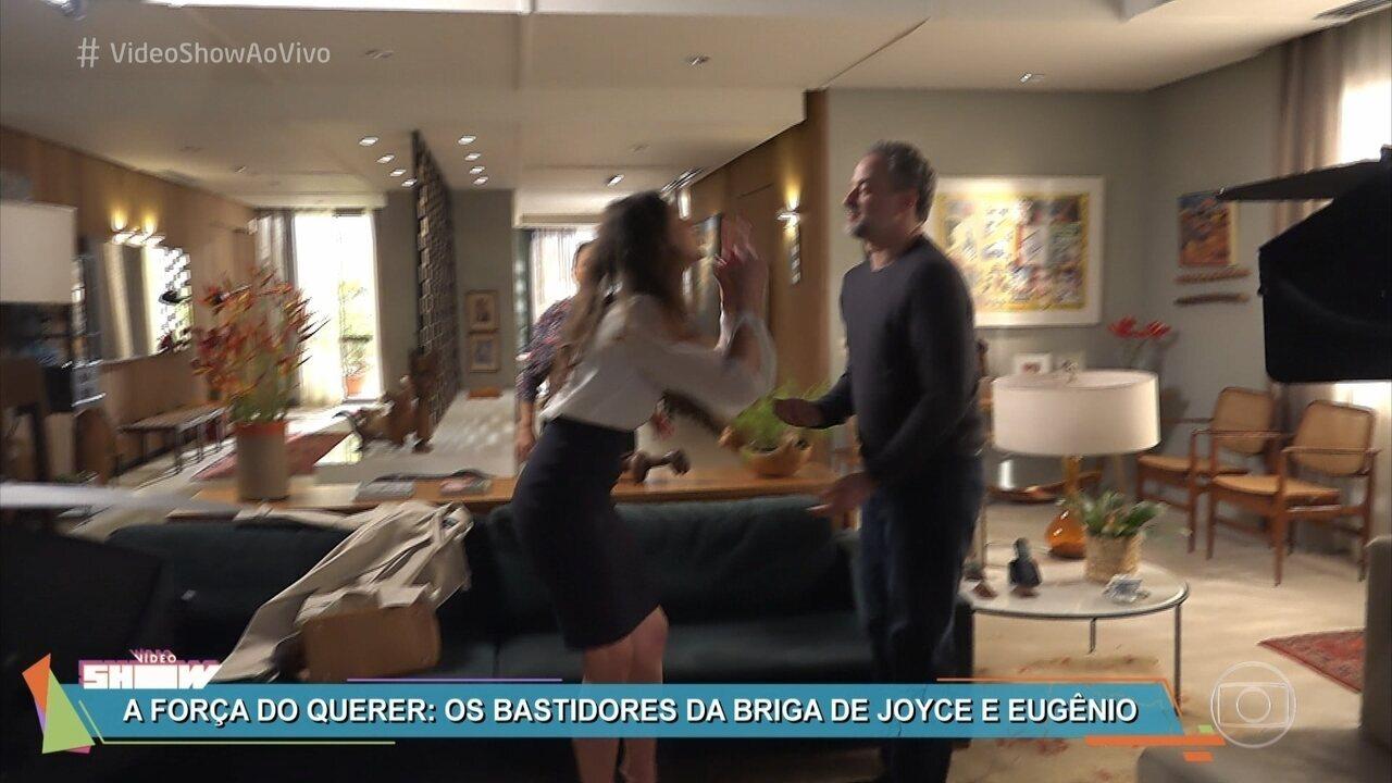 Confira os bastidores da discussão de Joyce e Eugênio