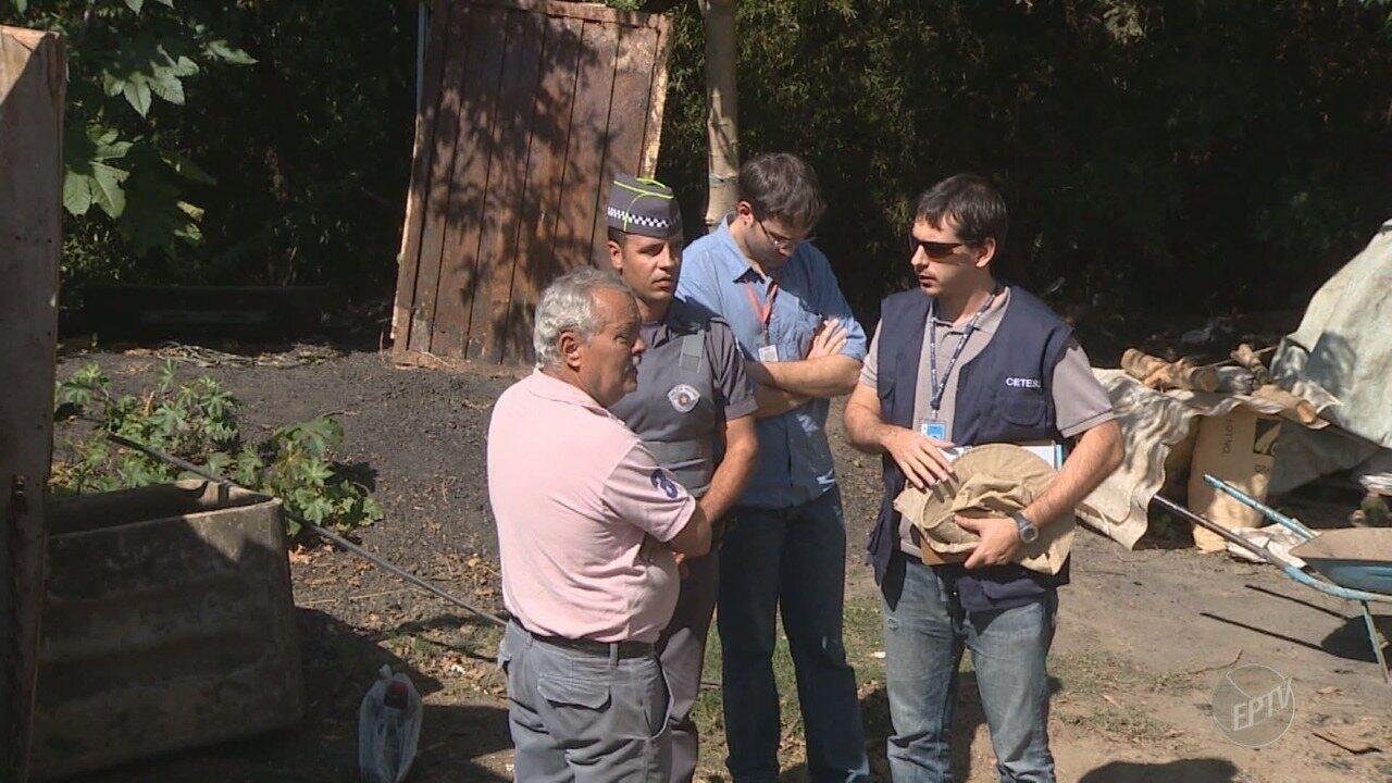 Após advertência da Cetesb, carvoaria clandestina terá que parar produção em Campinas