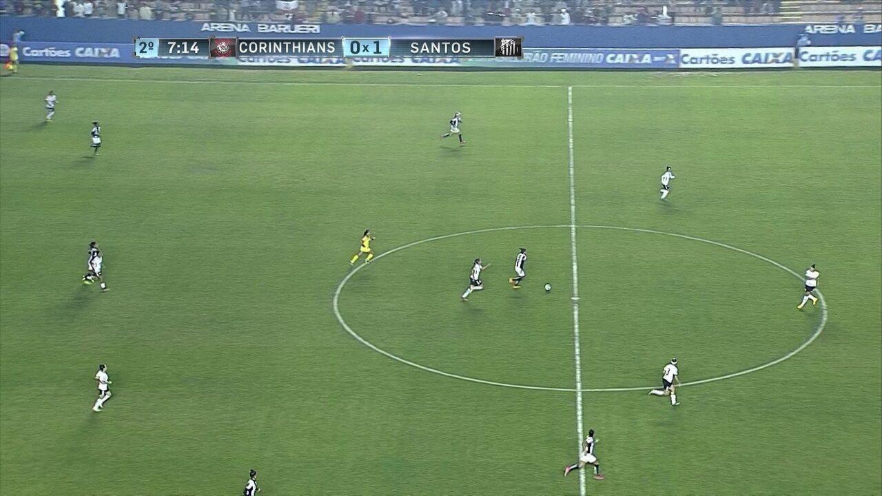 Melhores momentos: Corinthians 0 x 1 Santos pela final do Campeonato Brasileiro Feminino