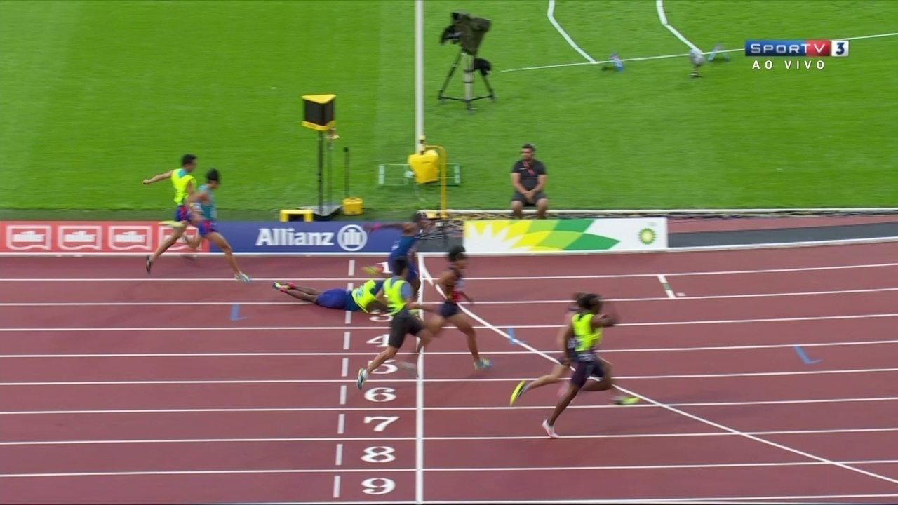 Americano David Brown conclui final dos 200m T11 após queda do seu guia