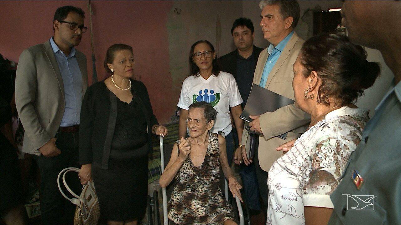 Justiça pede a prisão de filhos que agrediam a mãe de 69 anos no Maranhão