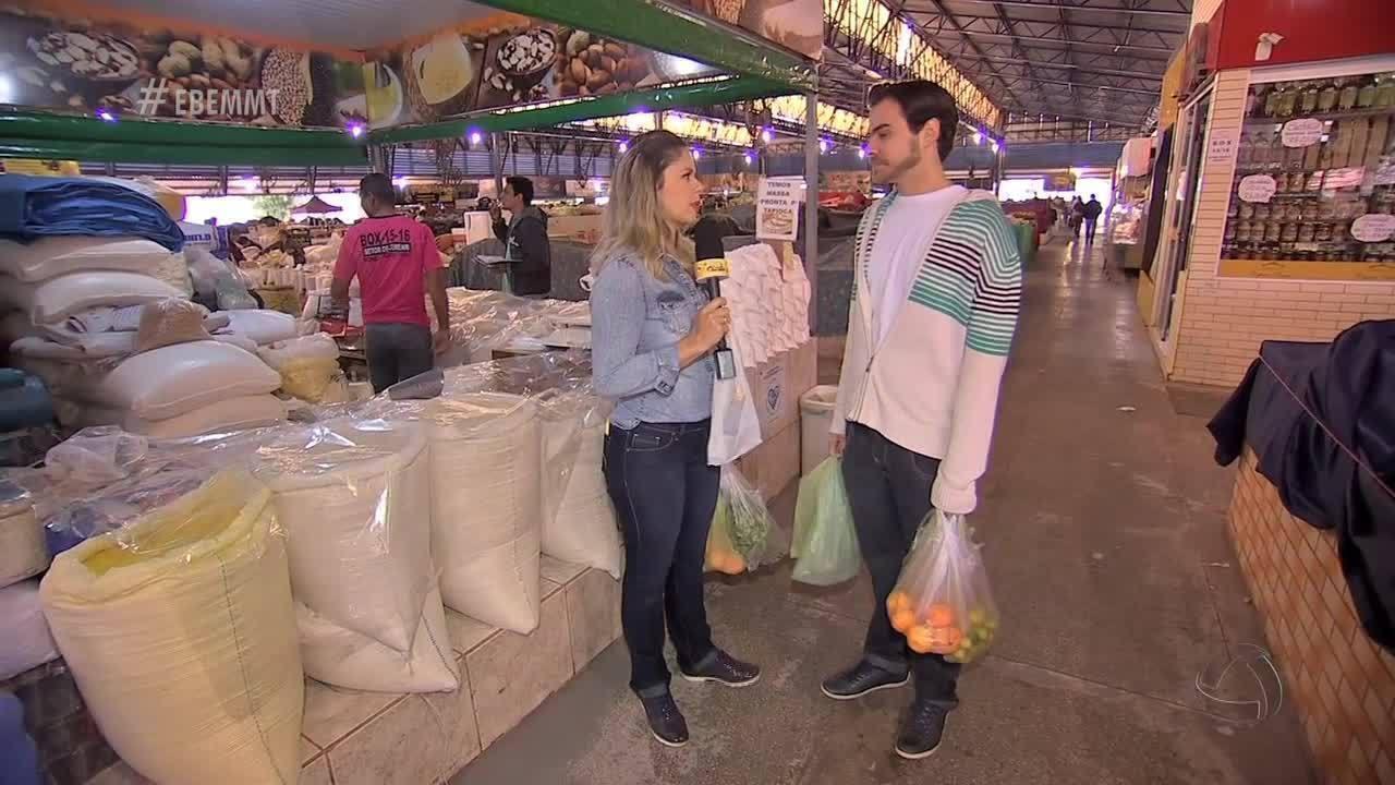 Michelly vai à feira mostrar que frutas e legumes da época rendem ótimas receitas