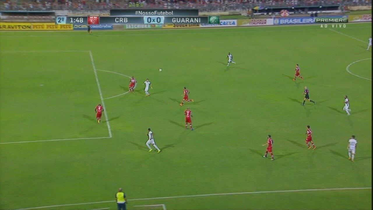 Os melhores momentos de CRB 1 x 1 Guarani, pela Série B do Brasileiro