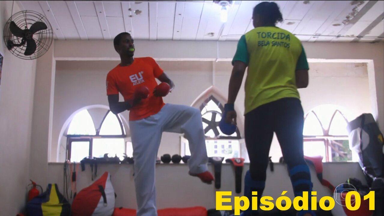 Diego Moraes volta a treinar karatê sonhando com a Olimpíada de 2020