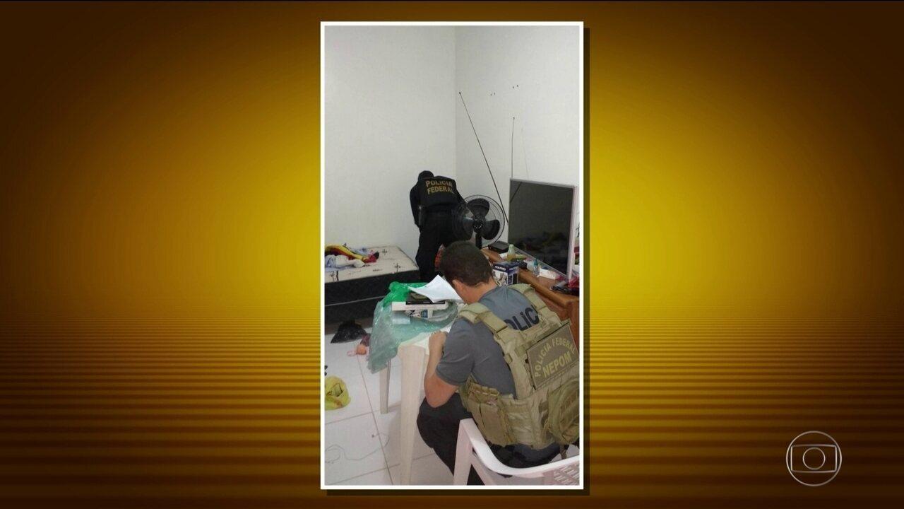 Agentes da PF cumprem mais de 70 mandados numa operação de combate à pedofilia