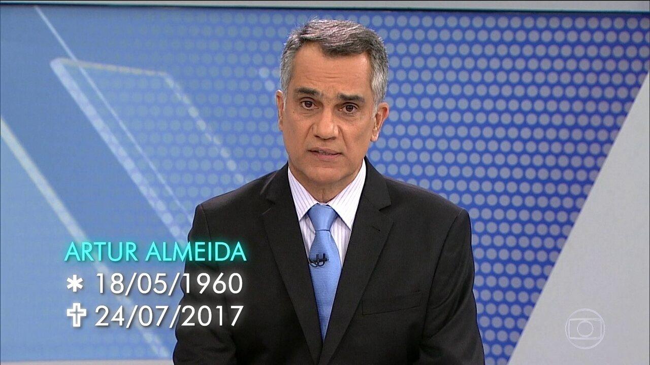 Morre o jornalista Artur Almeida, que trabalhou por quase 30 anos na TV Globo Minas