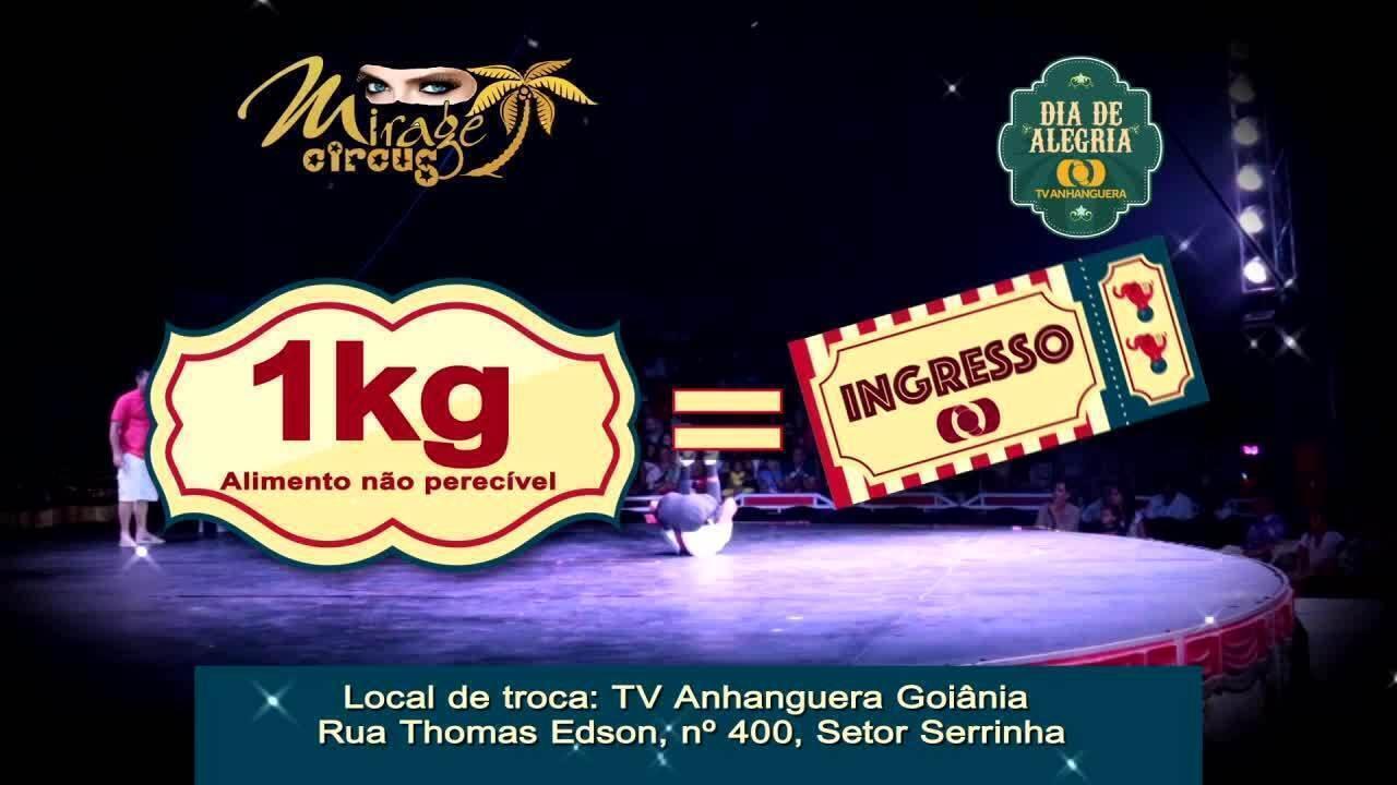 TV Anhanguera realiza o projeto 'Dia de Alegria' no Circo Mirage