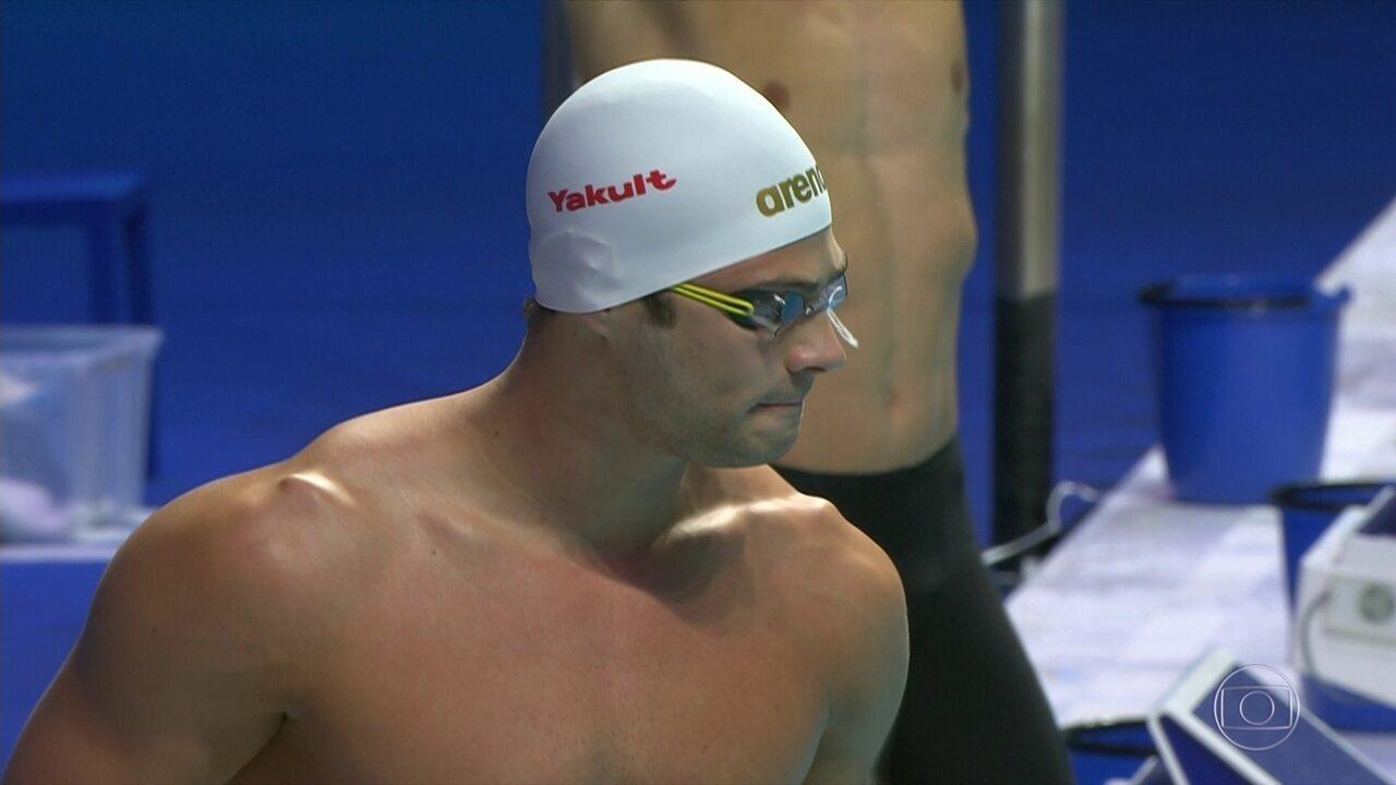 Marcelo Chierigini fica em 5º nos 100m livre do Mundial de Esportes Aquáticos