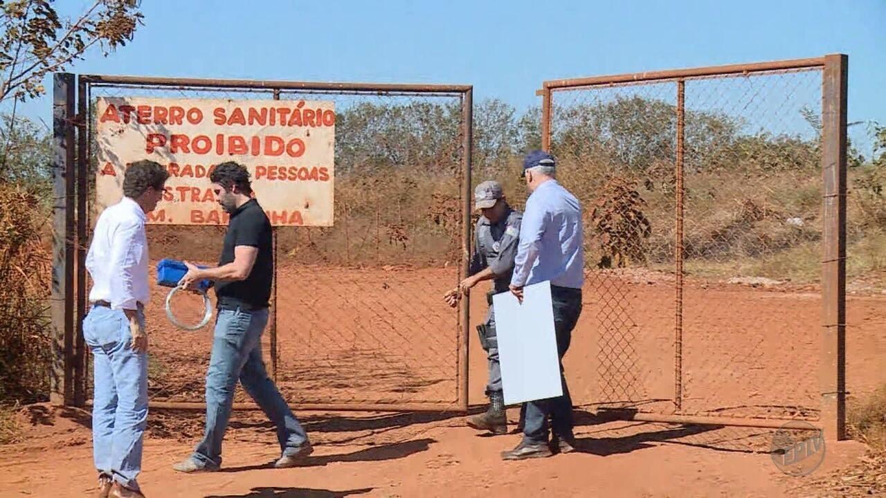 Secretaria do Meio Ambiente interdita o aterro sanitário em Barrinha, SP