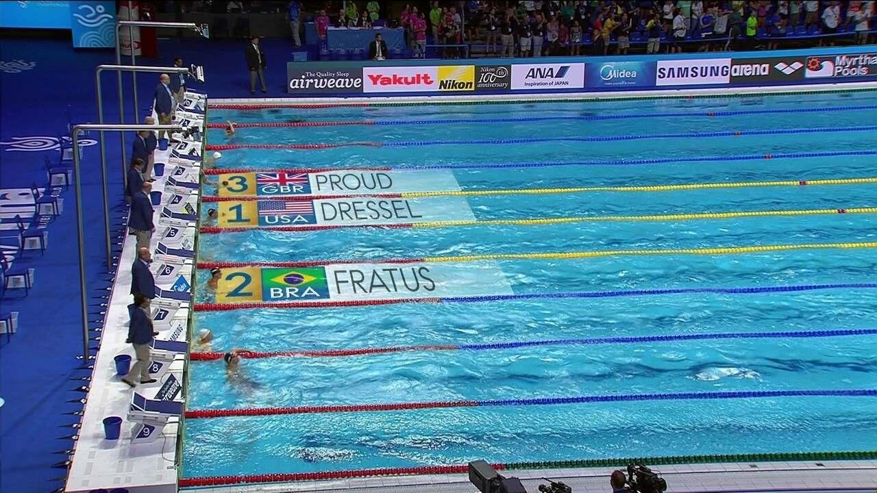 Bruno Fratus conquista a medalha de prata nos 50m livres no Mundial de esportes aquáticos