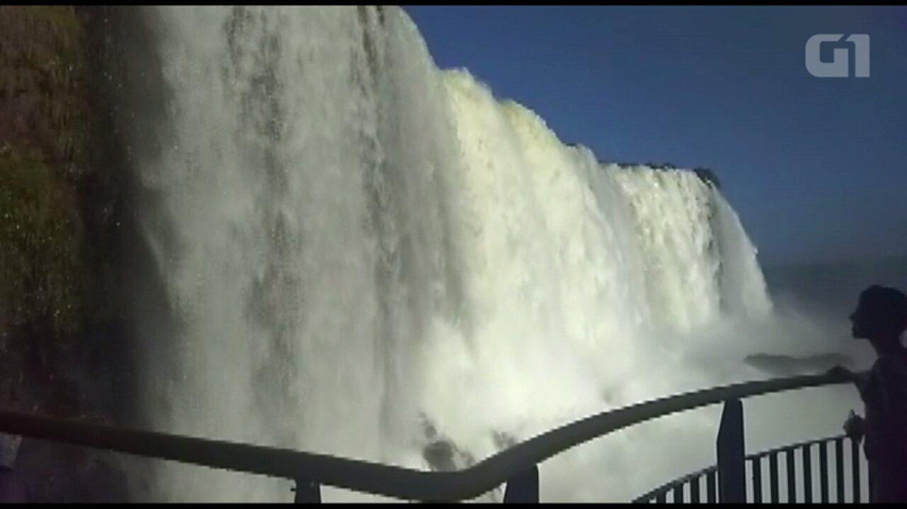 Mais de 1 milhão de turistas visitaram as Cataratas do Iguaçu este ano