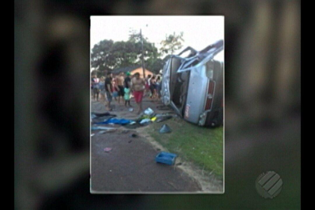 Em Castanhal, tentativa de assalto a uma van terminou em acidente grave