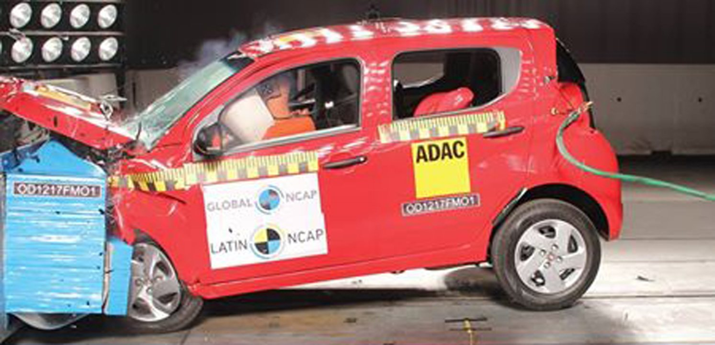 Fiat Mobi recebe 1 estrela em teste de colisão