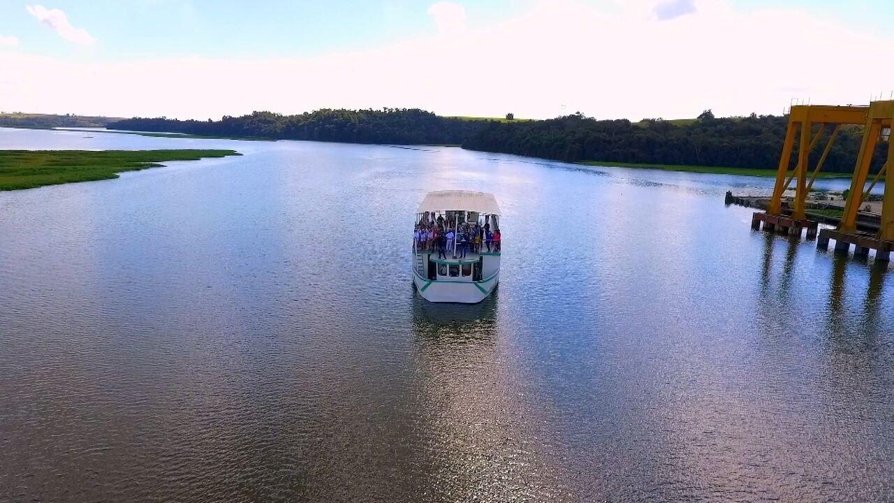 A navegação no rio Tietê